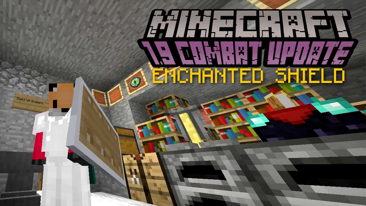 Minecraft - ENCHANTED SHIELD  12.12 Combat Update Challenge [12]