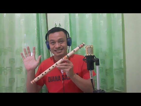 Tes suling bambu D bas lagu tersesat rhoma irama..pesan suling call 081220785156