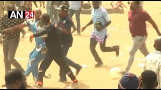 WATCH HOW MC OLUOMO RAN FOR DEAR LIFE AT APC CAMPIAGN RALLY IN LAGOS