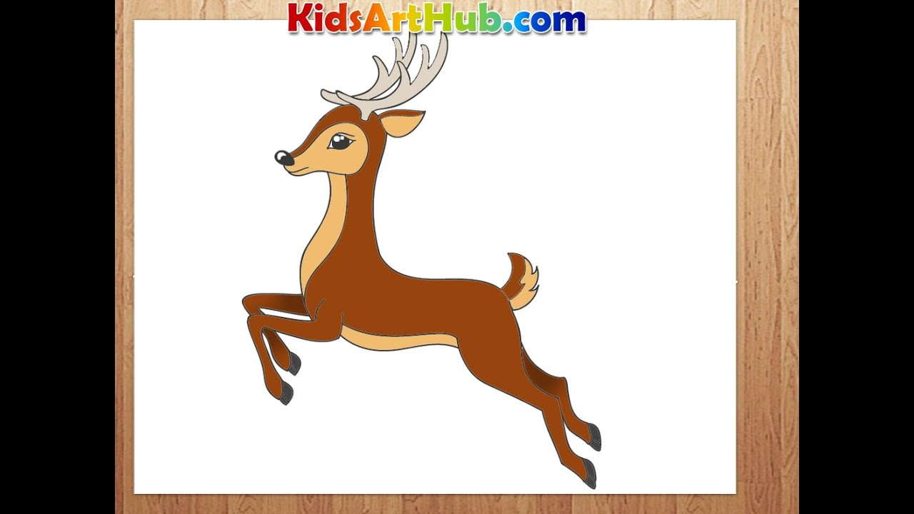 Uncategorized How To Draw A Deer For Kids how to draw deer youtube