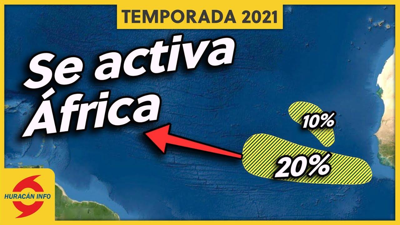 Nuevas ondas tropicales con potencial de desarrollo.