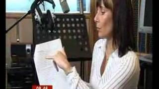 Sara records new voice of BT Speaking Clock (BBC Breakfast) screenshot 4