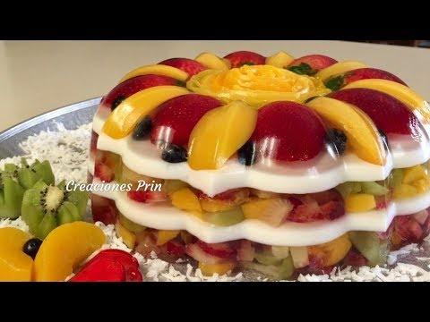 Gelatina transparente cristalina con frutas encapsuladas sabor pi a youtube - Postres con fresas naturales ...