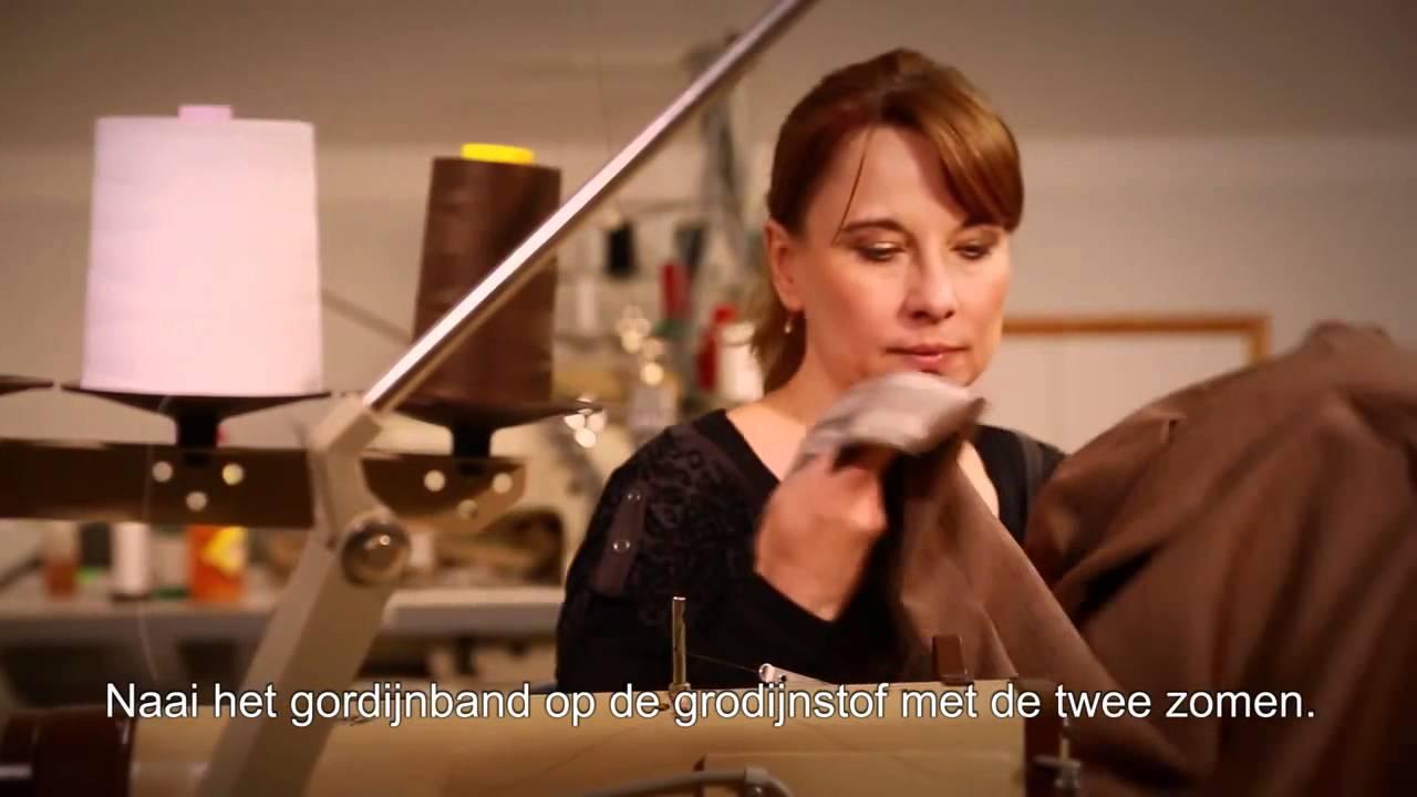 Hoe maakt u uw waveplooi gordijn ? - YouTube