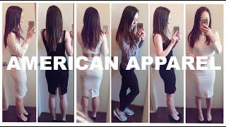 American Apparel Haul + Try-On