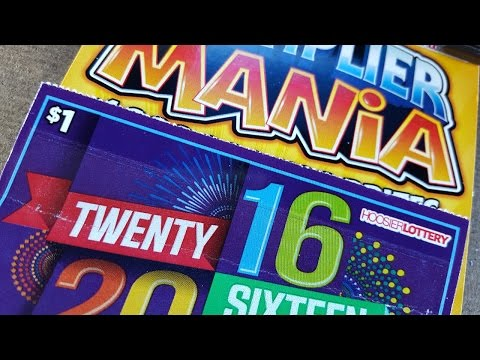 2016  & Multiplier Mania The Hunt For A Win Indiana Lottery Scratch Off Tickets