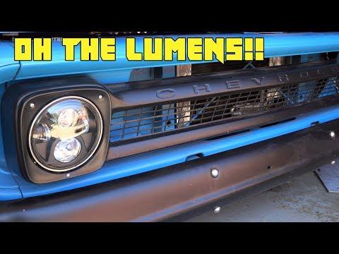 BIG LED Headlight Upgrade For The C10!