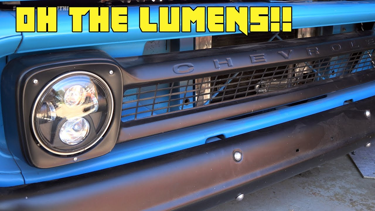 Big Led Headlight Upgrade For The C10 Youtube 1965 Chevy Nova Wiring