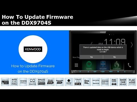 How To Download  Update Firmware on the KENWOOD DDX9704S - YouTube