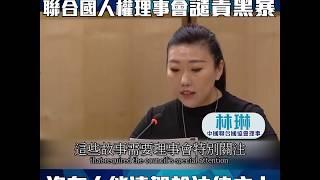 民建聯林琳促請聯合國人權理事會譴責黑暴(2020/3/14)