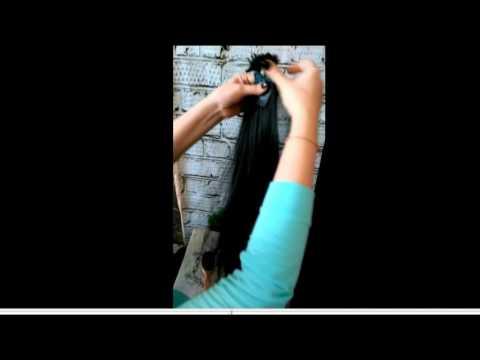 Окрашивание Омбре на русых волосах. Стрижка для длинных волос. Накрутка на утюжок.