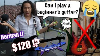 Can Rockstars Play a $120 Beginner Guitar Live? Herman Li DragonForce Guitar Review