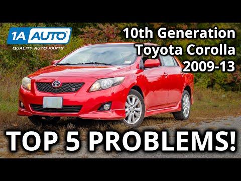 Top 5 Problems Toyota Corolla Sedan 10th Generation 2008-13