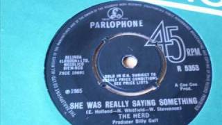 THE HERD - She was really saying something