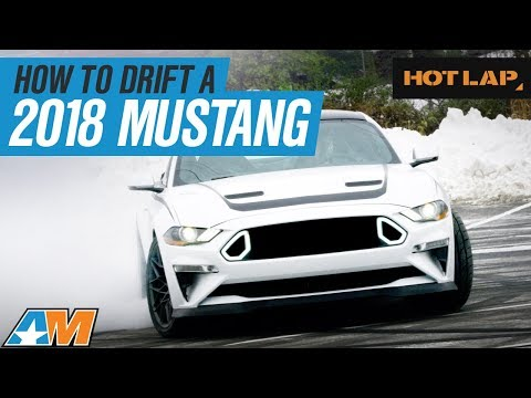 Chelsea DeNofa Shows Stephanie How To Drift A 2018 Ford Mustang RTR - Hot Lap