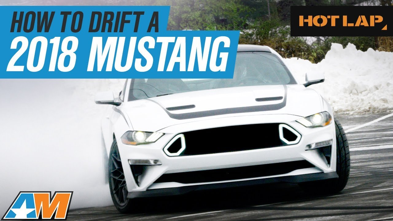 Chelsea denofa shows stephanie how to drift a 2018 ford mustang rtr hot lap
