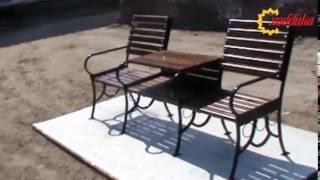 Скамейка садовая модульная
