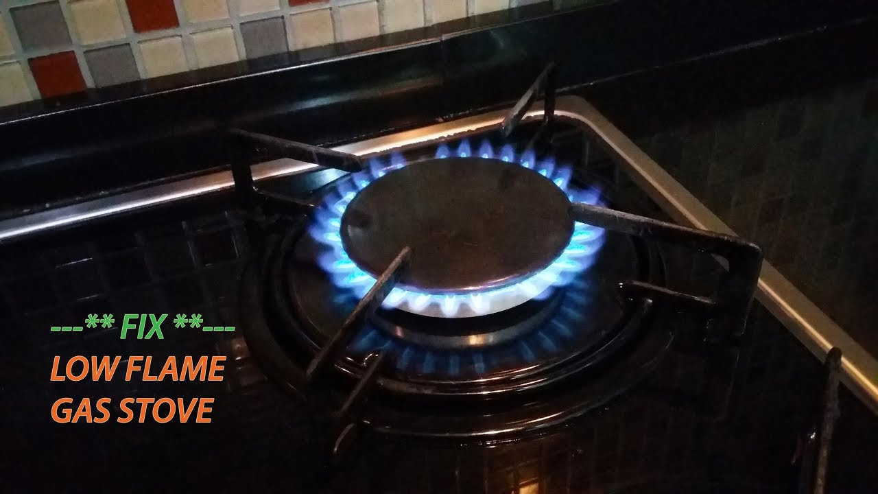 gas stove flame. How To Fix Low Flame On Gas Stove R