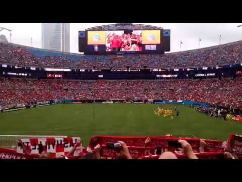 You'll Never Walk Alone - Liverpool FC - Bank of America Stadium - Charlotte, NC - FAN SECTION