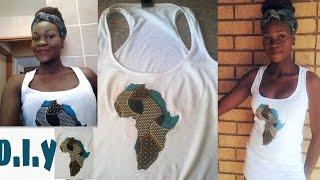 Download Video DIY african print fabric map on tshirt/vest, africa map with ankara/ kanga fabric MP3 3GP MP4