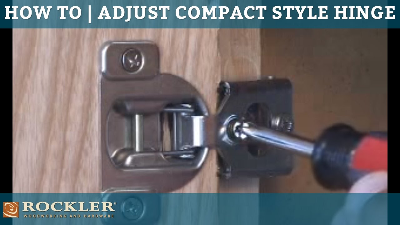 How To | Adjust Compact Style Hinges - YouTube