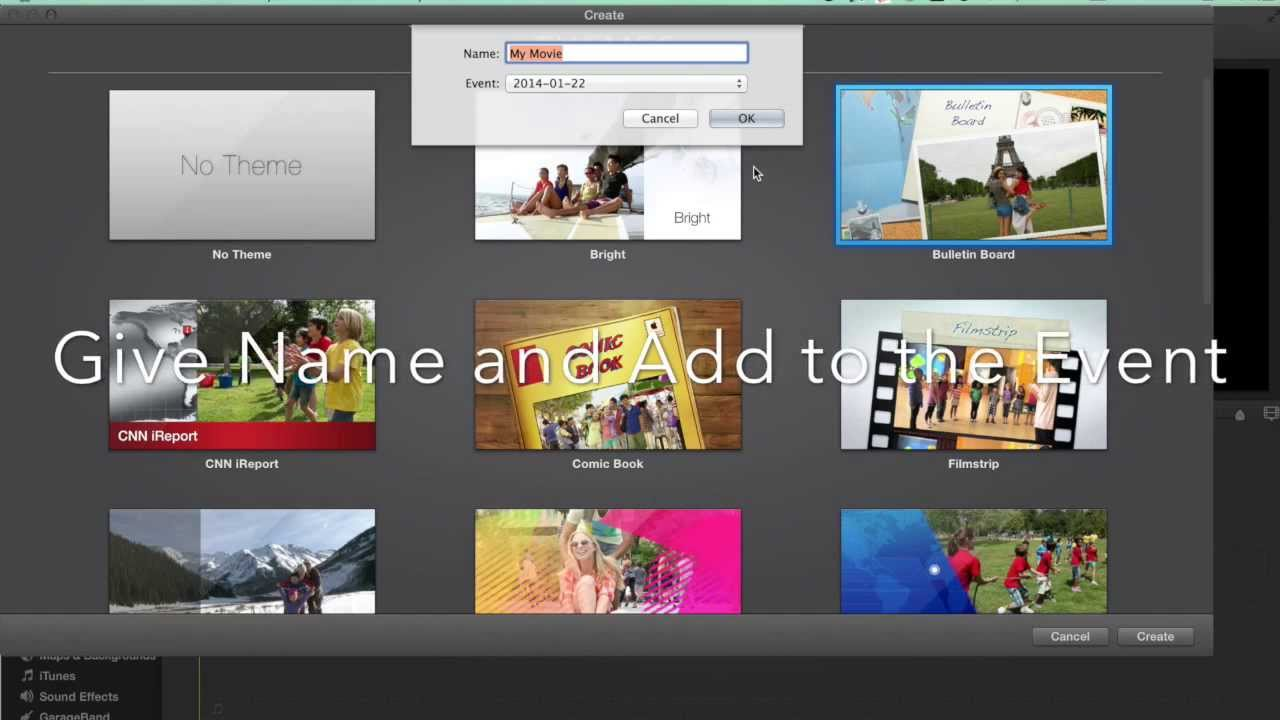 Imovie tutorial how to find the imovie themes youtube.