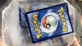 Pokemon Experiment: FREEZING RARE POKEMON CARDS INTO ICE!