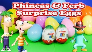 Opening Funny  Phineas & Ferb Surprise Eggs with the Assistant