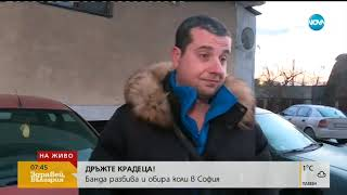 Дръжте крадеца! Бандра разбива и обира коли в София - Здравей, България (15.01.2019)