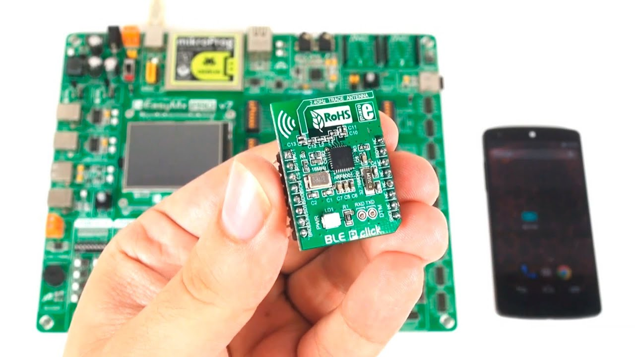 Android BLE Remote Control of EasyMx PRO for STM32 board