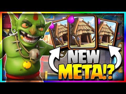 NEW OP CARD = GOBLIN HUT!? Off Meta = New Meta!! Clash Royale CCGS Winning Tournament Deck