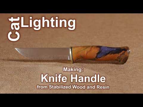 Making: Knife Handle from Stabilized Wood and Resin