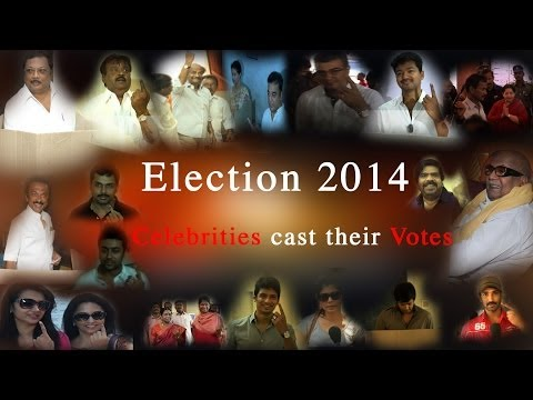Election 2014 : Celebrities caste their votes - Red Pix 24x7  All 39 Lok Sabha seats in Tamil Nadu went to polls in the sixth phase on Thursday. A number of high-profile candidates were in the fray in the state, including former Union ministers TR Baalu, Dayanidhi Maran, A Raja, Mani Shankar Iyer and others. Son of Union Finance Minister P Chidambaram, Karthi, is contesting from Shivaganga after the former decided not to contest this time. The DMK had won 18 seats in the 2009 Lok Sabha election while the AIADMK, the current ruling party, won only 9 seats. The Congress had bagged 7 seats. The DMK was a member of the Congress-led UPA alliance till March 2013 when it quit on the question of Sri Lankan Tamils. The BJP, which has formed an alliance with five parties in the state this time, is a key player this time. Over 5.5 crore voters will cast their ballots in Tamil Nadu this time. A total of 845 candidates are in fray of whom 55 are women. Security has been beefed up at all polling booths across the state. There are in all  60,818 polling booths in TN. Puducherry has 40 candidates contesting.    http://www.ndtv.com BBC Tamil: http://www.bbc.co.uk/tamil INDIAGLITZ :http://www.indiaglitz.com/channels/tamil/default.asp  ONE INDIA: http://tamil.oneindia.in BEHINDWOODS :http://behindwoods.com VIKATAN http://www.vikatan.com the HINDU: http://tamil.thehindu.com DINAMALAR: www.dinamalar.com MAALAIMALAR http://www.maalaimalar.com/StoryListing/StoryListing.aspx?NavId=18&NavsId=1 TIMESOFINDIA http://timesofindia.indiatimes.com http://www.timesnow.tv HEADLINES TODAY: http://headlinestoday.intoday.in PUTHIYATHALAIMURAI http://www.puthiyathalaimurai.tv VIJAY TV:http://www.youtube.com/user/STARVIJAY  -~-~~-~~~-~~-~- Please watch: