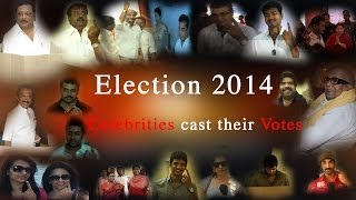 Celebrities votes Parliamentary election 2014
