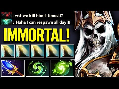 Immortal Wraith King Double Refresher CAN'T KILL - Dota 2 Gameplay