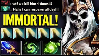 Mmortal Wraith King Double Refresher CANT K LL   Dota 2 Gameplay