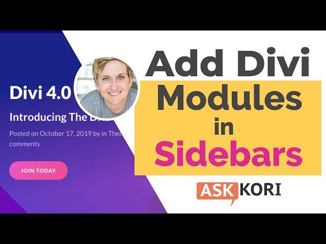 Add a Divi Module into a WordPress Sidebar
