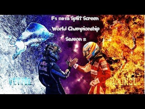 F1 2013 Split Screen World Championship Season 2 Race 17 (Korea)