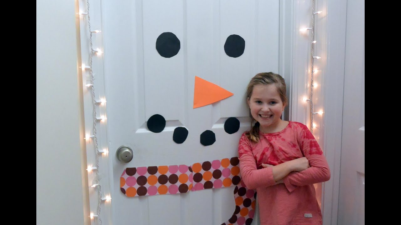 Great How To Make A Snowman Door Decoration
