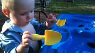 AJ and the water table