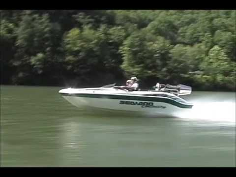 Helicopter T 58 Jet engine on seadoo boat