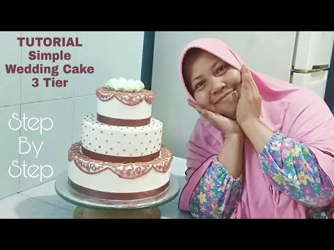Dekorasi Kue Pengantin Sederhana Dengan Buttercream