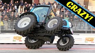 Landini Tractor Stunt Show - CRAZY 2 Wheels Driving, tricks & Actions! - Motor Show Bologna 2017