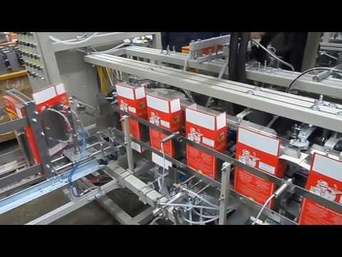 Упаковочное оборудование. Линия фасовки в картонные коробки.