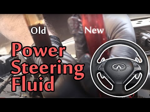 Infiniti Power Steering Fluid DIY