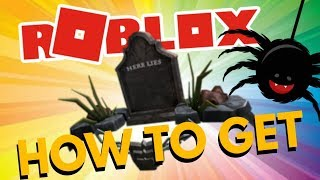 """HOW TO GET """"HERE LIES HAT"""" IN ROBLOX - ROBLOX HALLOWEEN 2018 (Event)"""