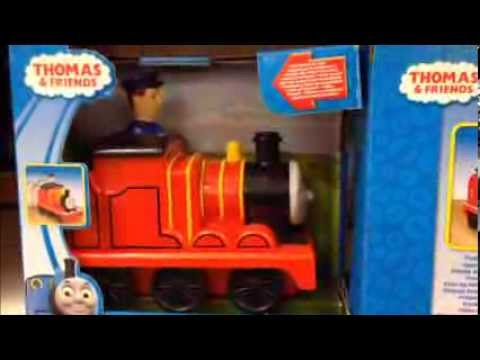 FISHER PRICE THOMAS THE TANK ENGINE PRESS AND GO JAMES TOY TRAIN IN STORE VIEW - YouTube