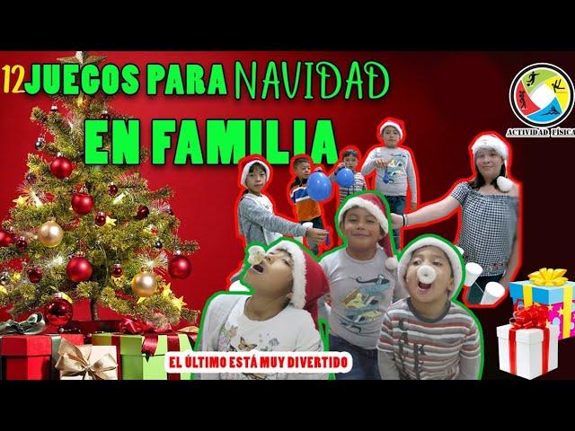 12 Juegos Divertidos Para Navidad En Familia 2020 Youtube