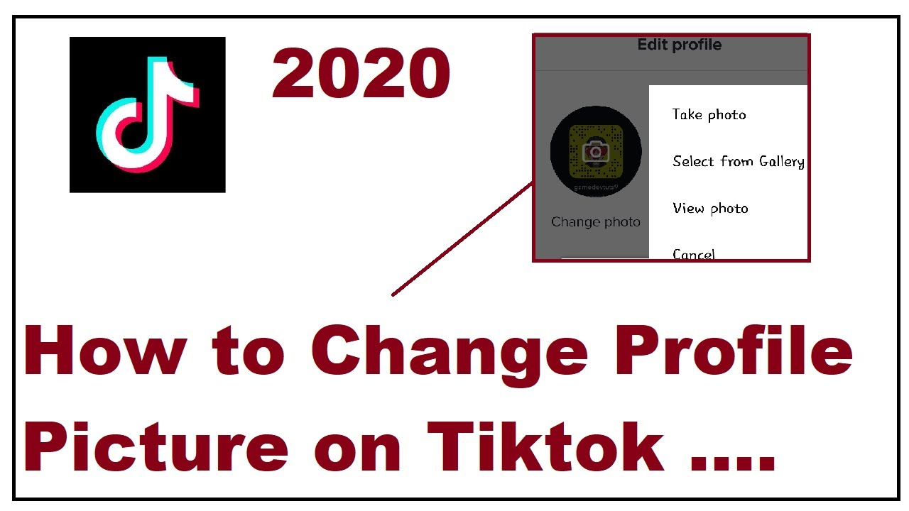 How To Change Profile Picture On Tiktok 2020 Youtube