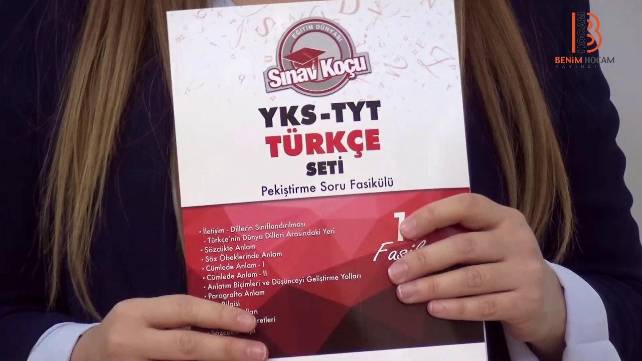 Benim Hocam YKS TYT 1. Oturum Türkçe Sınav Koçu Konu Anlatımlı 6 Fasikül Set